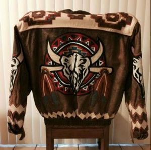 Other - Native American Tribal Western Leather Jacket